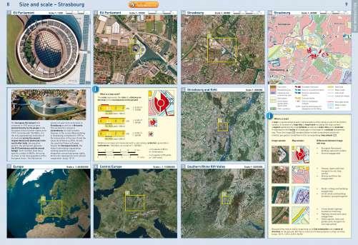 Diercke Karte Satellite image of Northeast Strasbourg