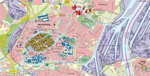 Diercke Karte Present-day Strasbourg and Kehl (2010)