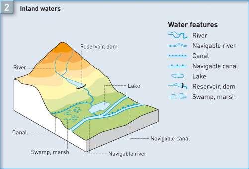 Diercke Karte Inland waters