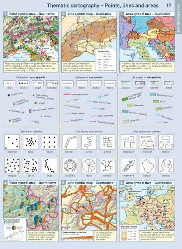 Diercke Karte Line symbol map – Qualitative