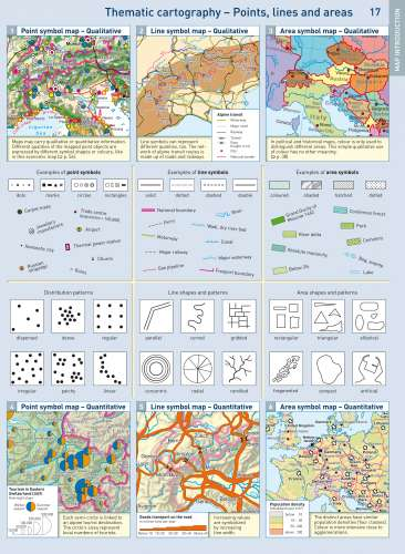 Diercke Karte Line symbol map – Quantitative