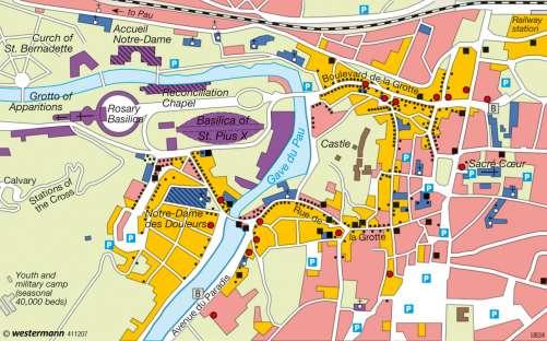 Diercke Karte Lourdes – Pilgrimage town