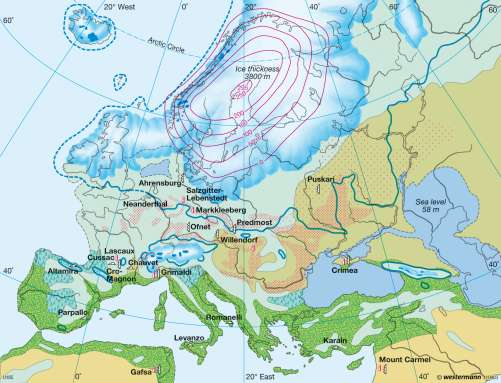 map of ice age europe Maps   Last ice age   Diercke International Atlas