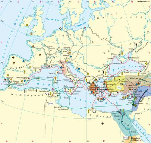 Diercke Karte Phoenician and Greek colonization