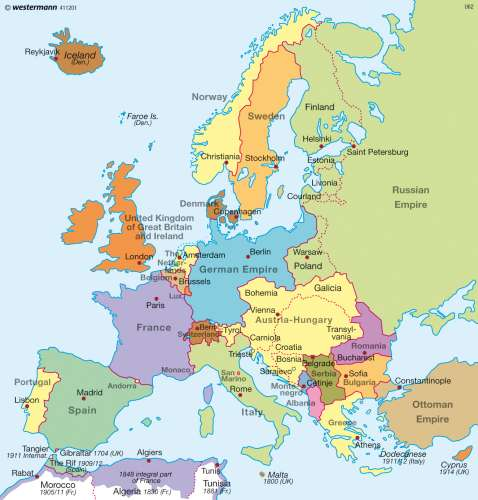 maps europe before world war one 1914 rcke international