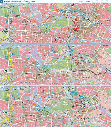 Maps Berlin Centre 1932 1980 2009 Diercke International