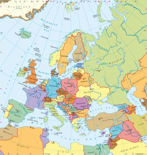 Maps   Europe – Political map   Diercke International Atlas
