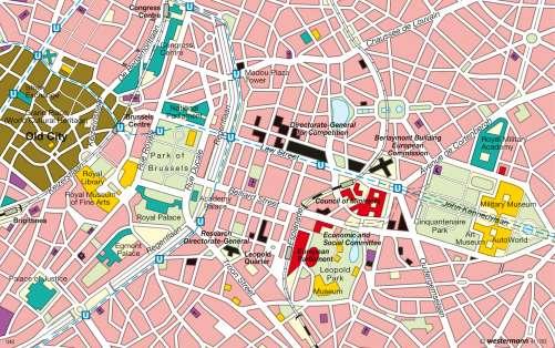Maps - Brussels – EU headquarters - Diercke International Atlas