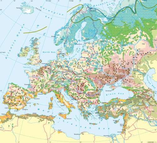 Agriculture World Map.Maps Agriculture Diercke International Atlas