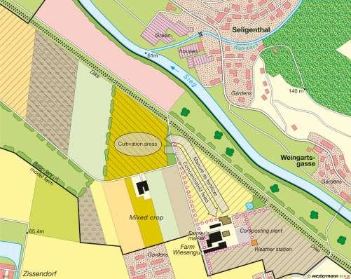 Diercke Karte Wiesengut Hennef (Germany) – Organic farming