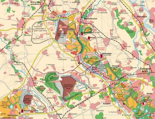Diercke Karte Rhenish lignite mining – Landscape change