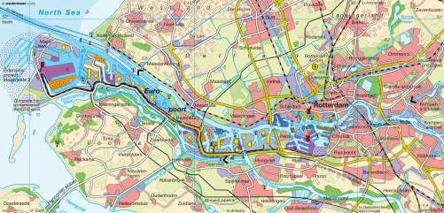 Maps - Rotterdam – Port - Diercke International Atlas