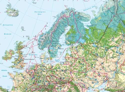 Diercke Karte Northern Europe – Economy