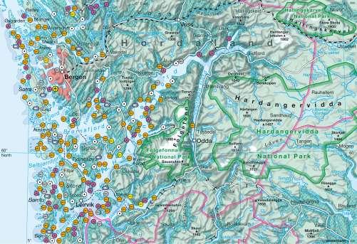 Diercke Karte Hordaland (Norway) – Aquaculture in the fjords