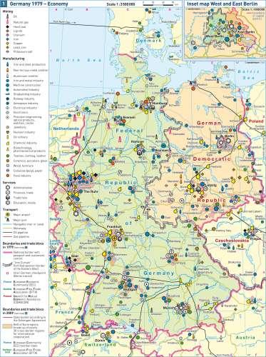 West Berlin Karte.Maps Germany 1979 Economy Diercke International Atlas