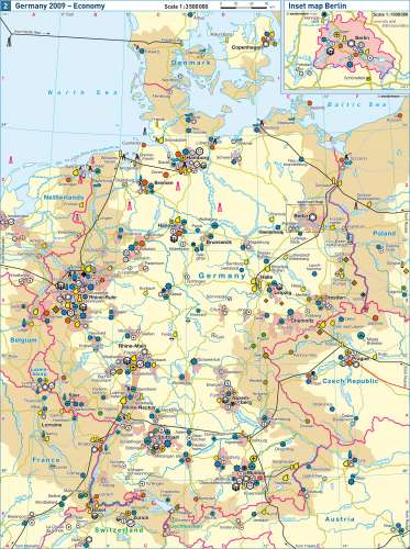 Diercke Karte Germany 2009 – Economy