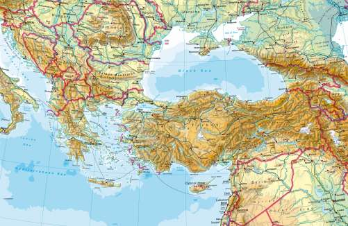 Maps Southern Europe Turkey Physical map Diercke – Geographical Map of Eastern Europe