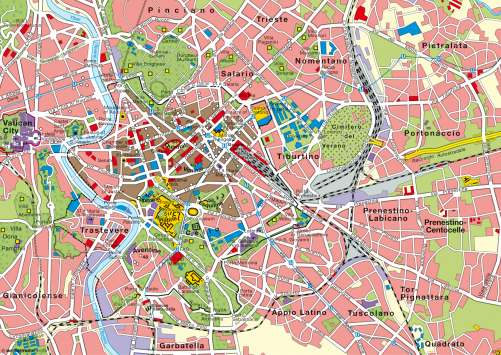 Maps - Rome – Top destination for city tourism - Diercke ...