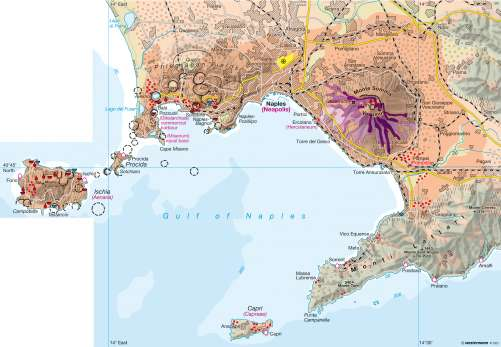 Maps Gulf of Naples Recreation and sightseeing around the