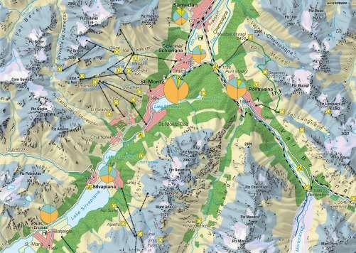 Diercke Karte Upper Engadin (Switzerland) – Alpine tourism in a changing environment