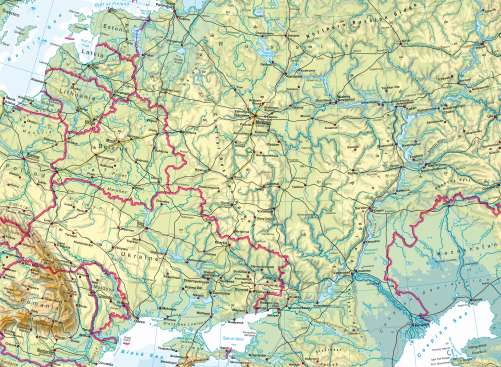 Maps - Eastern Europe – Physical map - Diercke International Atlas