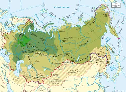 Diercke Karte Russia's emergence as a world power 1462 - 1914