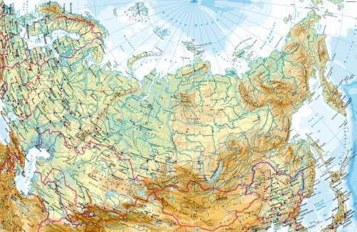 Maps - Russia/Central Asia – Physical map - Diercke International Atlas