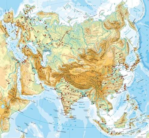 Diercke Karte Eurasia – Physical map