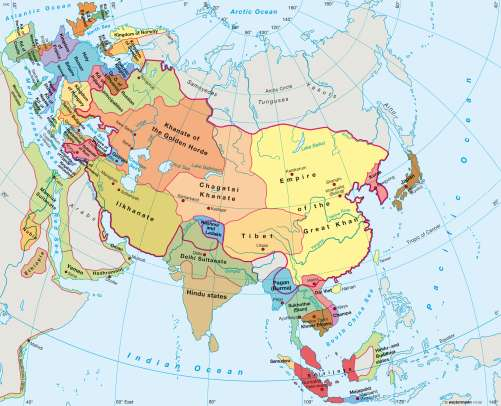 Picture Of Map Of Asia.Maps Asia Circa 1300 Diercke International Atlas