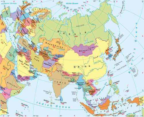 Maps - Asia – Political map - Diercke International Atlas