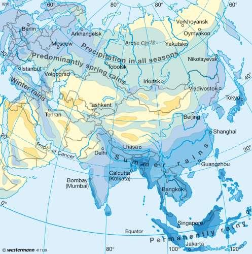 Mumbai On Map Of Asia.Maps Annual Precipitation Diercke International Atlas
