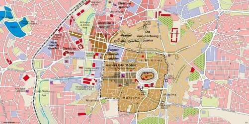 Diercke Karte Aleppo (Halab, Syria) – Oriental city