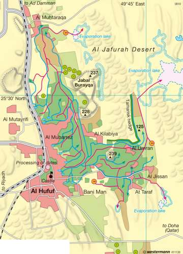 Maps Al Hasa Oasis Diercke International Atlas