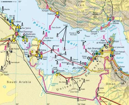 diercke karte arab states of the persian gulf economy