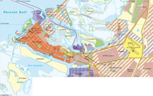 Maps - Abu Dhabi – Emerging global city - Diercke International Atlas