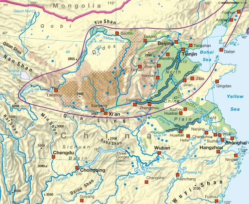 Maps   Huang He and Yangtze – Water related problems   Diercke