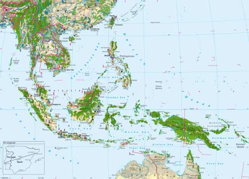 A Map Of East Asia.Maps South East Asia Economy Diercke International Atlas
