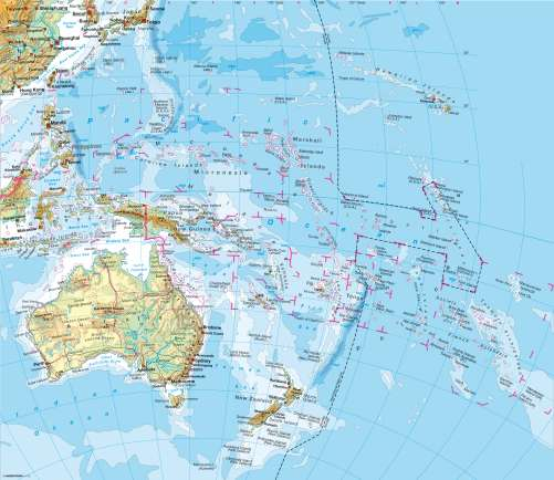 Maps AustraliaOceania Physical Map Diercke International Atlas - Australia physical map
