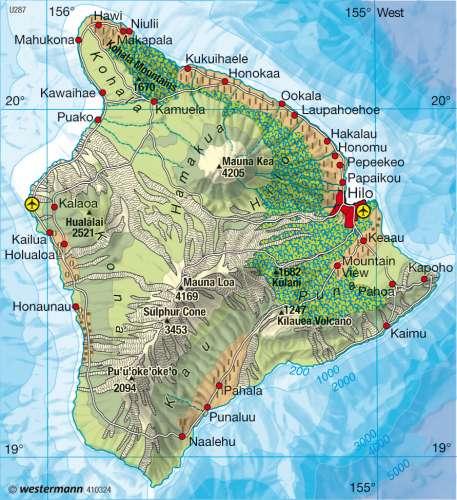 Diercke Karte Hawaii