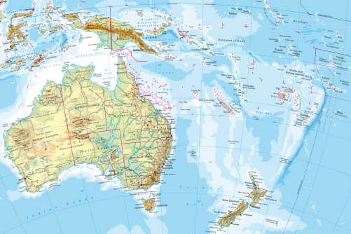 Maps AustraliaOceania Physical Map Diercke International Atlas - Physical map of oceania
