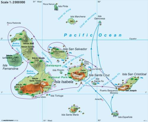 Maps - Galápagos Islands – Nature tourism and nature conservation ...