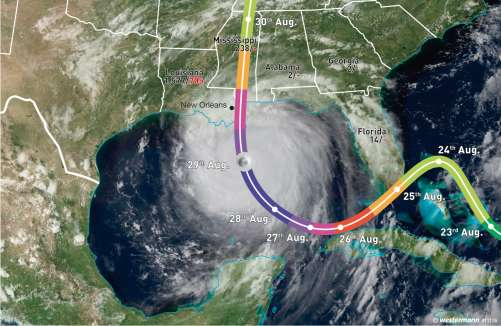 Diercke Karte Hurricane Katrina