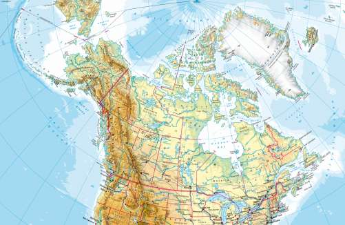 Maps - North America (northern part) – Physical map - Diercke ...