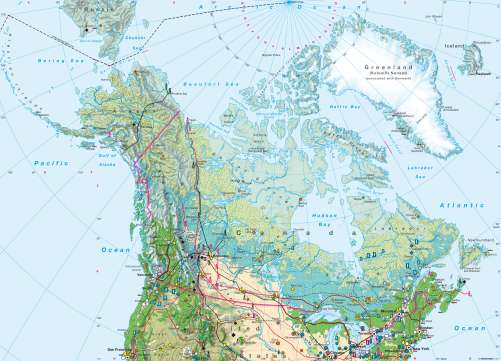 Map Of Canada 60th Parallel.Maps North America Northern Part Economy Diercke