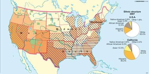 Diercke Karte Ethnic structure