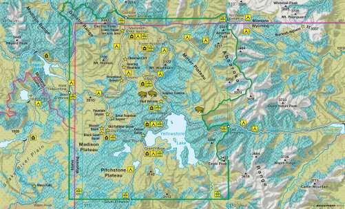 Diercke Karte Yellowstone National Park