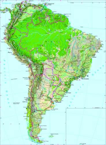 Diercke Karte South America – Economy