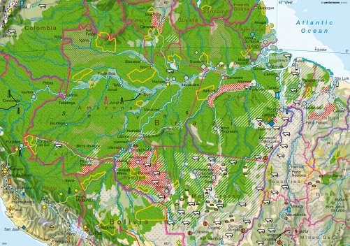 Diercke Karte Amazonas – Encroachment into the tropical rainforest
