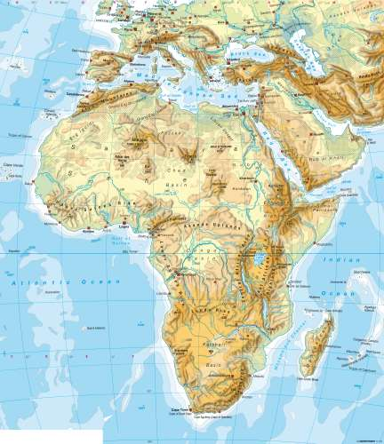 Maps Africa Physical Map Diercke International Atlas