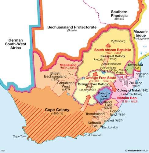 Maps Treaty of Vereeniging Diercke International Atlas